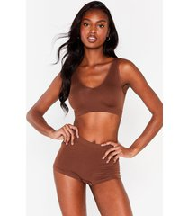 womens seamless nights high-waisted panty - chestnut
