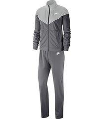conjunto sudadera sportswear tracksuit nike gris