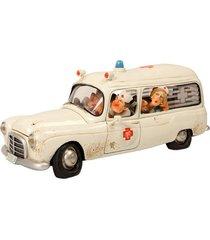 escultura decorativa de resina a ambulância