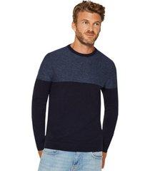 sweater punto fino azul esprit