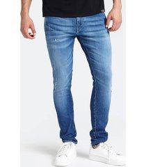 jeansowe chinosy z przetarciami fason skinny