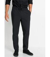 slim fit pantalon met elastische band, tapered