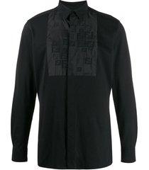 bib detail button-down shirt