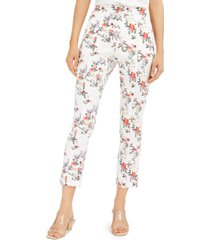 inc floral slim ankle pants, created for macy's