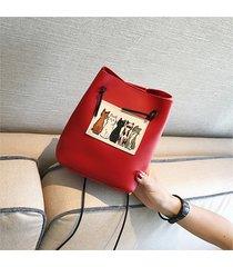 sacchetto di cuoio dell'unità di elaborazione della borsa del secchio della cassa del sacchetto della benna delle donne