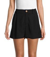 vince women's high-rise shorts - black - size 10