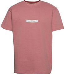 akarne boxy sweat t-shirts short-sleeved rosa anerkjendt