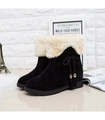 mujer invierno caliente botas de nieve moda plataforma plana borla botas de algodón 39
