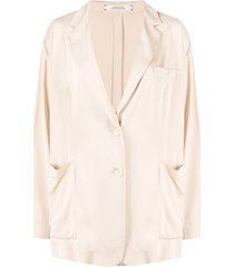 dorothee schumacher draped single-breasted jacket - neutrals