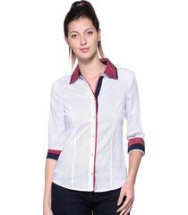 camisa intens manga 7/8 algodão branco