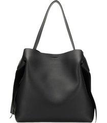 acne studios musubi maxi shoulder bag - black