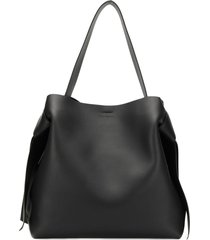 acne studios musubi maxi shoulder bag - black