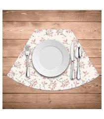 jogo americano para mesa redonda wevans flowers kit com 6 pçs