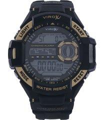 reloj negro-dorado virox