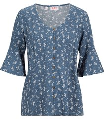 camicetta a mezze maniche (blu) - john baner jeanswear