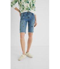 jean shorts mandalas - blue - 34