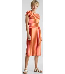 vestido de jersey elástico con combinación de rayas naranja oscuro esprit
