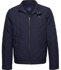 quilted windcheater doorgestikte jas blauw gant