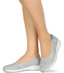 elastiska skor naturläufer grå