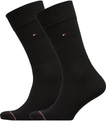 th men sock 2p rib underwear socks regular socks svart tommy hilfiger
