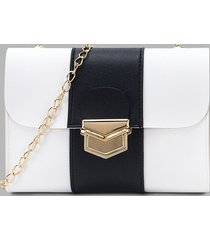 colorblock rectangle chain crossbody bag