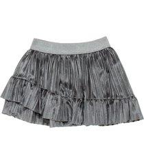 minifalda plateado  offcorss