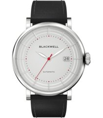 blackwell gray dial with silver tone steel and black leather watch 44 mm