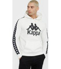 kappa sweat hood, auth. bzaba tröjor vit/svart