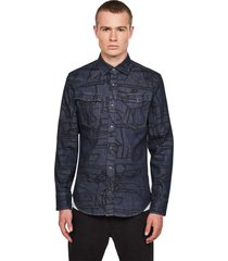 g-star 3301 slim shirt ls dark blue