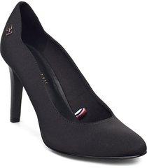 essential high heel pump shoes heels pumps classic svart tommy hilfiger