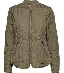 quilt jacket doorgestikte jas groen ilse jacobsen