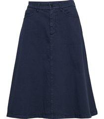 o2. a-line texture skirt knälång kjol blå gant