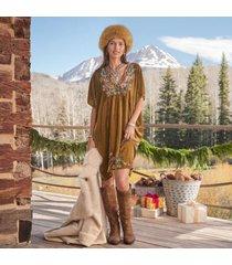 sundance catalog women's serafina kaftan dress in bronze large