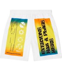 converse x rokit baggie shorts white