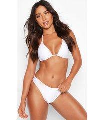 mix & match brazilian v front bikini brief, white