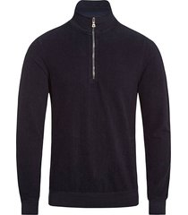 orlebar brown hewson half zip sweatshirt - navy 269378m