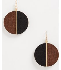 maurices womens brown black split wood drop earrings
