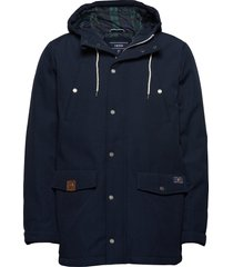 canvas hooded parka fodrad jacka blå izod