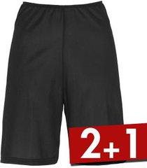 damella microfiber waist slip shorts