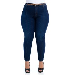 calça jeans plus size cambos skinny cropped recortes