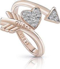 anillo guess cupid/ubr85014-56 - oro rosa