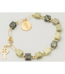 connemara marble irish rosary bracelet