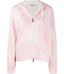 moncler tie-dye hooded jacket - pink