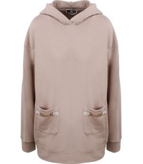 elisabetta franchi hoodie with clamps