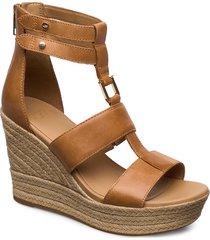w kolfax sandalette med klack espadrilles brun ugg