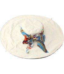 cappello da donna estivo da spiaggia, da donna, con cappello floppy, ampio cappuccio estivo