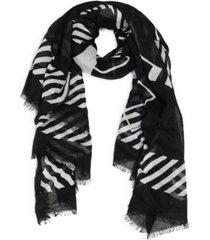 calvin klein oversized calvin logo square scarf