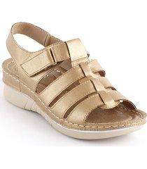 sandalia casual tipo confort para dama dorado