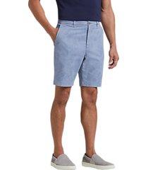 joseph abboud blue palm leaf modern fit shorts