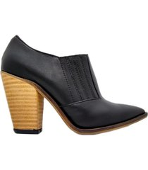 botineta negra abryl calzados texas